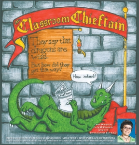 Carly McCormack's cover design for the 2013 Classroom Chieftain